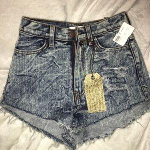 Pants - High waisted denim shorts BNWT